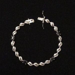 SILVER AND SAPPHIRE BRACELET